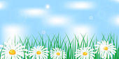 Kamille in gras — Stockvector