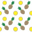 Royalty-Free Stock Vector Image: Pineapple pattern color