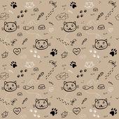 Kočka vzor — Stock vektor