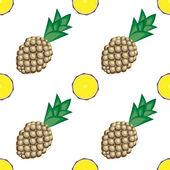 Ananas musterfarbe 2 — Stockvektor