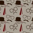 Stock Vector: Hipster pattern
