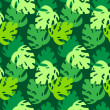 Monsterleaves pattern green — ストックベクター #25141915