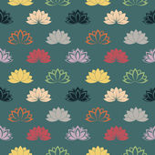 Lotus wallpaper blue — Stock Vector