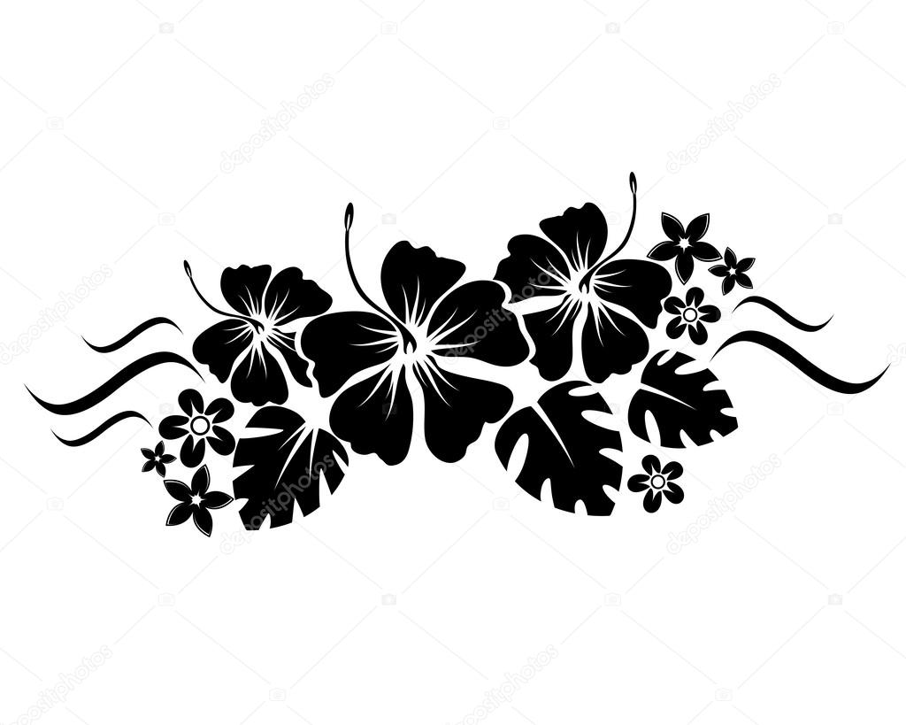 The gallery for Hawaiian Flower Silhouette