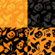 set Halloween-pattern — Stockvektor