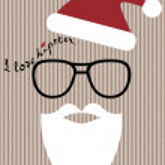 Hipster-santa — Stock Vector #30917085