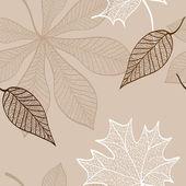 Modello 2 foglie d'autunno — Vettoriale Stock