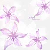 Floral background lilac — Stock Vector