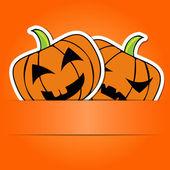 Carte d'Halloween à la citrouille — Vecteur