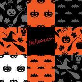 Halloween-Muster-set 2 — Stockvektor