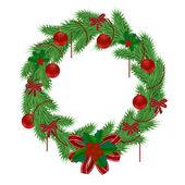 Christmas wreath 2 — Stock Vector