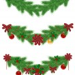 christmas border — Vettoriali Stock