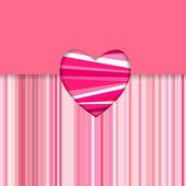 Valentine striped card horizontal — Stock Vector