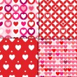 Valentine patterns pink — Stock Vector