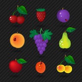 Fruit set — Vecteur