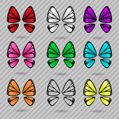 Butterfly wings collection — Stock Vector