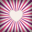 Valentine striped background with one heart — Stock Vector #38784981
