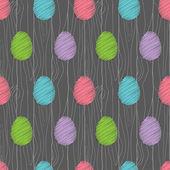 Easter egg pattern dark — Stock Vector