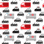 City car seamless pattern — Stock Vector