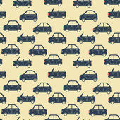 City car pattern blue — Stok Vektör
