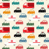 City car seamless pattern color — Vector de stock