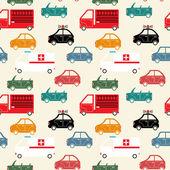 City car seamless pattern color — Stock vektor