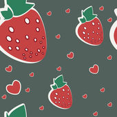 Vector illustration strawberries — Vecteur
