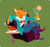 """Vektor illustration """"fox relax"""" — Stockvektor"""