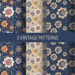 Set of vintage patterns — Stock Vector