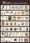 Reihe von icons — Stockvektor