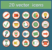Set of icons — Vettoriale Stock