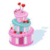 Birthday Cake — Stockvektor