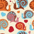 "Seamless pattern ""Snails"" — Stock Vector"