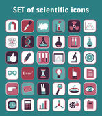 Set of scientific icons — Stock Vector