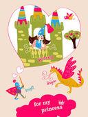 """Vector ilustración """"para mi princesa"""" — Vector de stock"""