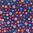 "Vector seamless pattern ""Flowers"" — Stock Vector"