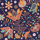 "Seamless pattern ""Indian summer"" — Stock Vector"
