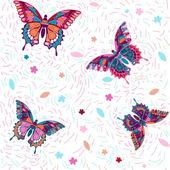"""Seamless pattern """"Butterflies"""" — Stock Vector"""