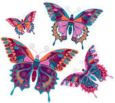 "Vector illustration ""Butterflies"" — Stock Vector"