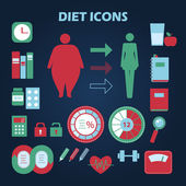 Set of diet icons — Stock Vector