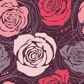 """Seamless pattern """"Roses"""" — Stock Vector"""