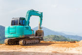 The Loader Backhoes worker. — Stock Photo