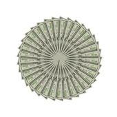 The dollars art. — Stock Photo