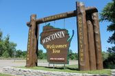 Wisconsin Welcome Sign — Stock Photo