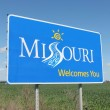 Missouri Welcome Sign — Stock Photo