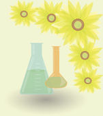 Sunflowers-biofuel — Vector de stock
