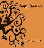 Halloween tree decoration — Stock Vector