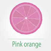 Pink orange — Stock Vector