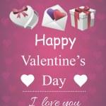 Valentine poster — Stock Vector