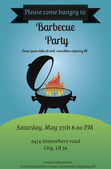Barbecue party flyer — Stock Vector